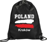 BACKPACK BAG KRAKOW POLAND GYM HANDBAG FLAG SPORT