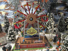 """TRAIN VILLAGE HOUSE """" CARNIVAL EXCITING FERRIS WHEEL RIDE """" + DEPT 56/LEMAX info"""