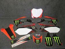 Honda CRF250 2010-2013 CRF450 2009-2012 Monster Energy gráficos + plásticos GR011