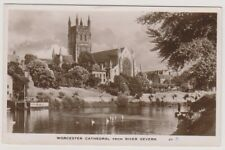 Worcestershire postcard - Worcester Cathedral from the River Severn - (A115)