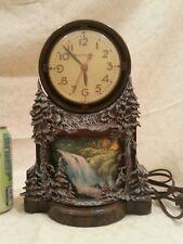 Vintage MasterCrafters Clock Waterfalls Motion Lamp Light #344
