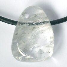 Unbehandelte Echte Edelstein-halsketten aus Sterlingsilber mit Bergkristall