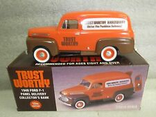 TRUSTWORTHY 1948 FORD F-1 PANEL DELIVERY COIN BANK #12 in series