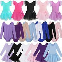Toddler Girls Ballet Dance Dress Stretchy Leotards Gymnastics Dancewear Costume