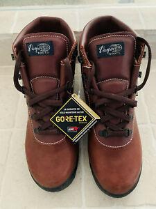 New Vasque Sundowner GTX 7126 Leather Gore Tex Hiking Boots Red Oak Mens 9.5 M
