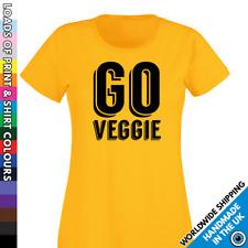 Ladies GO Veggie Tshirt - Vegetarian Diet T shirt - Vegan Activist Food Ladies