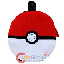 Pokemon Pokeball Plush Doll Backpack Nintendo Game Costume Bag