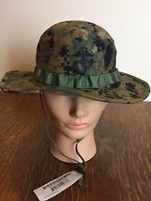NEW US Military Issue USMC Marine MARPAT Woodland Camo Boonie Field Cover Hat SM