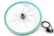 Shimano Nexus Internal 3 Speed Hub Wheel Kit W Shifter 700c Fixie Track Bike Aqu