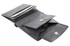 17a951baafd1b LEAS Biker Mini Geldbörse dünn Hochformat flaches Portemonnaie mit RFID    Kette