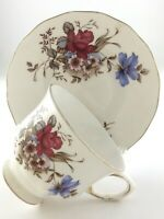 Vintage Teacup Saucer Queen Anne Bone China Made in England Ridgway Pottery T021