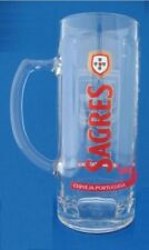 Sagres  Glass Beer pint Tankards  heavy glass cerveja Portuguesa PUB/BAR/MANCAVE