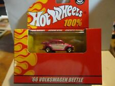Hot Wheels 100% Red Box Pink Chrome '66 Volkswagen Beetle w/Real Riders