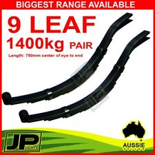 Trailer Parts 9 Leaf SLIPPER Spring Eye SLIPPER One Pair Black 45mm Wide