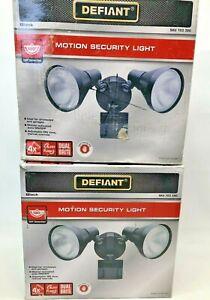 (2) Defiant 180 Degree Black Motion-Sensing Outdoor Security Light