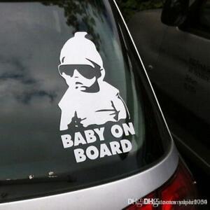 Baby On Board Sticker Baby Child Window Bumper Car Sign Window Sticker