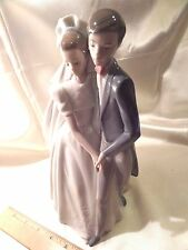 Nao By Lladro, H-Made Porcelain Figurine, Bride And Groom, First Dance, Ca. 1996