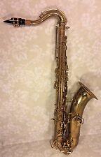 Vtg Wurlitzer American Saxophone w/ Neck Mouthpiece & Case Lo Pitch 1940s-50s