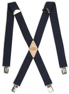 Dickies Mens 1-1/2 Solid Straight Clip Suspender,Navy,One Size
