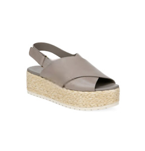 VINCE Jesson Platform Slingback Espadrille Leather 10 Women Retail $250