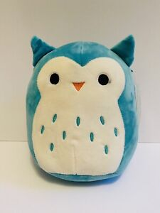 Squishmallows Winston the Teal Owl   8 Inch   19cm   New With Defect