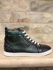 NIB Christian Louboutin Bip Bip Orlato Flat Python Hightop Sneaker 39.5 $1995