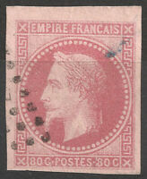 FRANCE COLONIES GÉNÉRALES N°10 Napoléon BDF effigie dégagée belles marges TTB