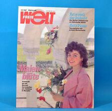 Freie Welt 10/1987 Treptow Eberswalde Müncheberg Friedensfahrt Trasse Werner B