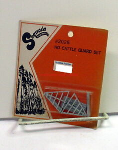 Sequoia Scale Models~HO~2026~Cattle Guard Set~OOP~NOS~White Metal