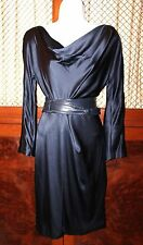 J. MENDEL Navy Blue Silk dress size 6