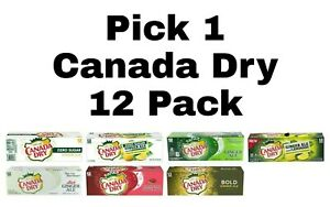 Pick 1 Canada Dry Soda Pop 12 Pack