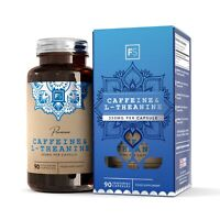 Caffeine & L-Theanine (350mg)   No Fillers   90 or 270 Capsules   Energy & Focus