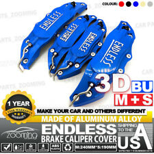 Metal 3D ENDLESS Universal Style Brake Caliper Cover front&rear 4pcs Blue LW03