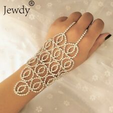 Chrismas Finger Ring Hand Harness Chain Bracelet Jewellery Designer Wear uk