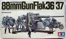 TAMIYA MM117 German 88 GUN FLAK 36/37 with 5 figures & Motorcycle scala 1/35
