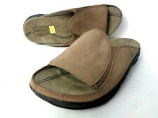 MERRELL Trevisio II Stone US 8M Taupe Leather Slide Slip on Sandals Shoes
