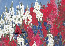 Kunstkarte: Heide Dahl - Malven und Lilien