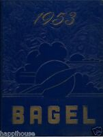 1953 Victor NY Central High School Yearbook BAGEL