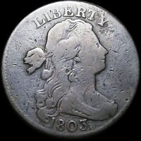 1803 Draped Bust Large Cent Penny ---- S 247 Lump Under Chin ---- #J326
