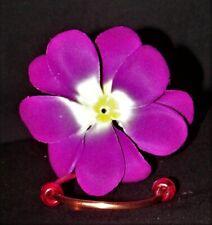 New Color  HC  Copper Window Mount Hummingbird Feeder Realistic Plumeria Flower