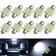 10x NEW 31MM Festoon 12 LED Map/Dome Interior Light Bulbs 7000K Cool White