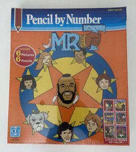 Rare 1983 Hasbro Mr. T Cartoon Pencil By Number Set Vintage US. Sealed MIB.