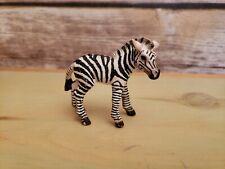 "Schleich Baby Zebra Foal Pretend Play Toy Figure Wild Safari Animal - 3"""