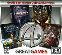 4 GREAT GAMES - GOGII'S BEST HIDDEN OBJECT ADVENTURES PC GAME WINDOWS/MAC
