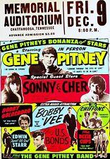 Gene Pitney / Sonny und Cher Chattanooga 40.6cm x 30.5cm Foto Repro Konzert