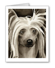 Chinese Crested Dog note cards by watercolor artist Dj Rogers