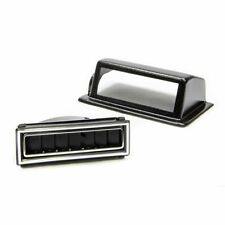 Vintage Air 49051-Vul Black/Chrome Rectangle Kick Panel Driver Side Louver