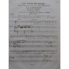 MOZART W. A. The marriage of Figaro No. 8 Singer Piano or Harp ca1820 partition
