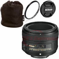 Nikon 50mm f/1.8G AF-S Lens for Nikon DSLR Cameras +Pouch and More
