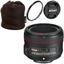 Nikon 50mm f/1.8G AF-S Lens for Nikon DSLR Cameras +Pouch and More